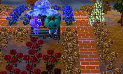 Bob sleeping on a metal bench.