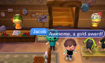 Jacob, on Club Tortimer: Awesome, a gold award!