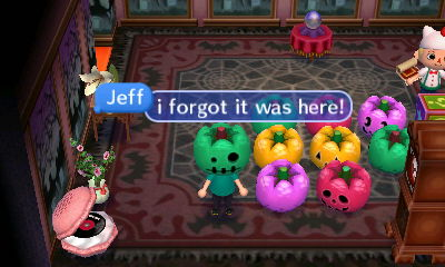 Jeff: I forgot it was here!