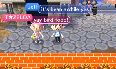T Zelda: Yay bird food!