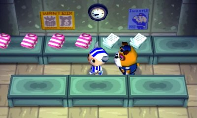 The police station in Animal Crossing for Nintendo GameCube.