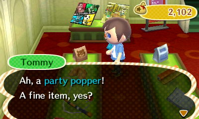 Tommy: Ah, a party popper! A fine item, yes?