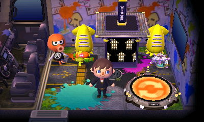 Inkwell's Splatoon-themed RV in Animal Crossing: New Leaf: Welcome Amiibo.