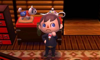 The zodiac dog in Animal Crossing: New Leaf.