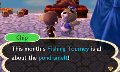 Chip: This month's Fishing Tourney is all about the pond smelt!