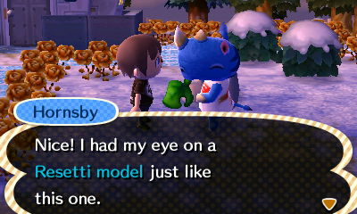 Hornsby: Nice! I had my eye on a Resetti model just like this one.