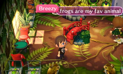 Breezy: Frogs are my fav animal.
