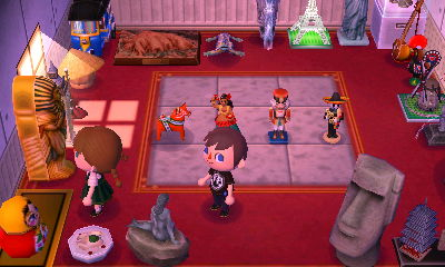 Breezy explores the Gulliver room in Booker's house.