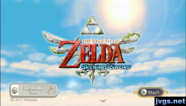 The Legend of Zelda: Skyward Sword title screen