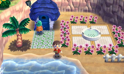 Animal Crossing Outdoor Spa