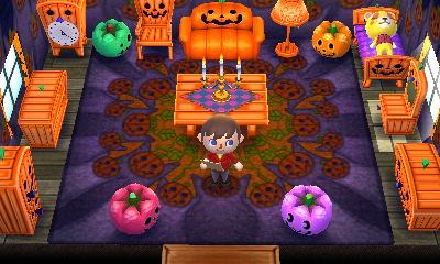 tammys spooky halloween room achhd - Halloween Animal Crossing City Folk