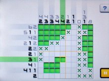 Screenshot of Picross e2 for 3DS.