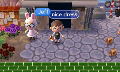 Jeff: Nice dress.