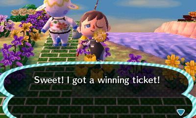 Sweet! I got a winning ticket!