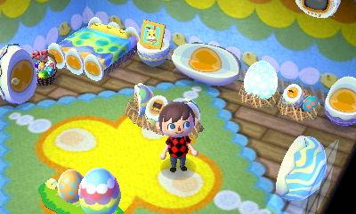 The egg furniture set.