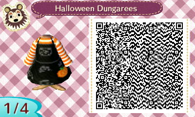 qr code for halloween dungarees in animal crossing - Halloween Animal Crossing City Folk