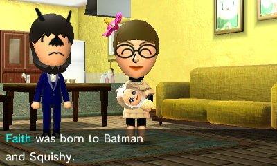 Faith was born to Batman and Squishy.
