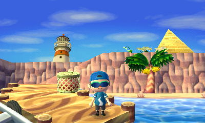 ACNL lighthouse and pyramid